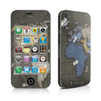 iPhone 4 Skin - Jean Map