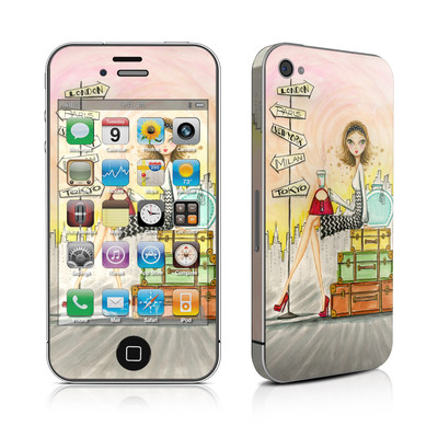 iPhone 4 Skin - The Jet Setter