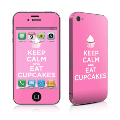 iPhone 4 Skin - Keep Calm - Cupcakes