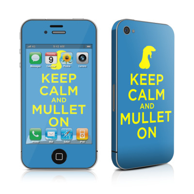 iPhone 4 Skin - Keep Calm - Mullet