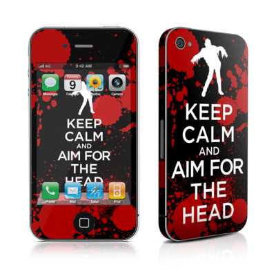 iPhone 4 Skin - Keep Calm - Zombie