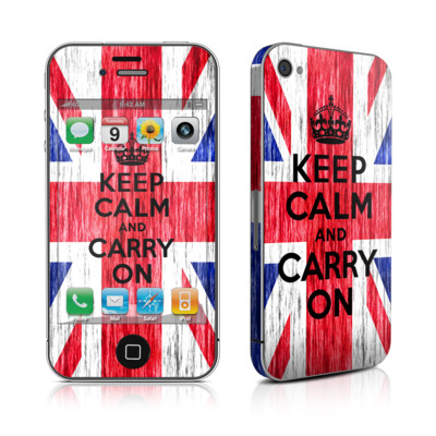 iPhone 4 Skin - Keep Calm - Grunge