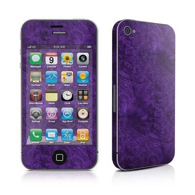 iPhone 4 Skin - Purple Lacquer