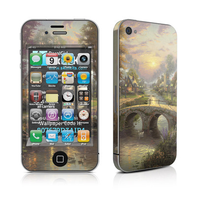 iPhone 4 Skin - Sunset On Lamplight Lane