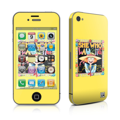 iPhone 4 Skin - She Who Laughs