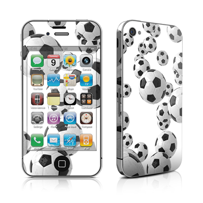 iPhone 4 Skin - Lots of Soccer Balls