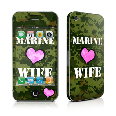 iPhone 4 Skin - Marine Wife