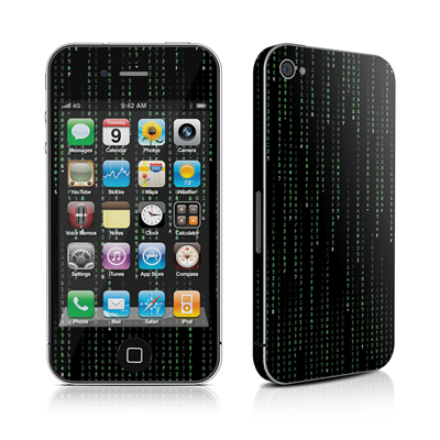 iPhone 4 Skin - Matrix Style Code