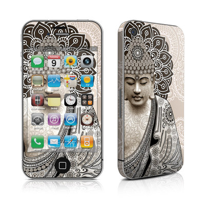 iPhone 4 Skin - Meditation Mehndi