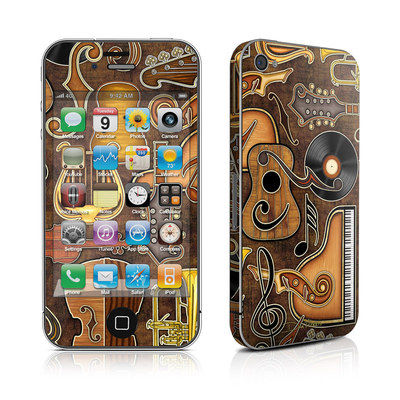 iPhone 4 Skin - Music Elements