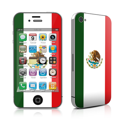 iPhone 4 Skin - Mexican Flag