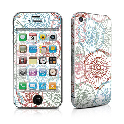 iPhone 4 Skin - Micro Flowers