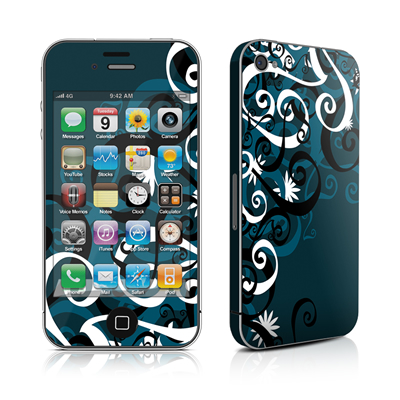 iPhone 4 Skin - Midnight Garden