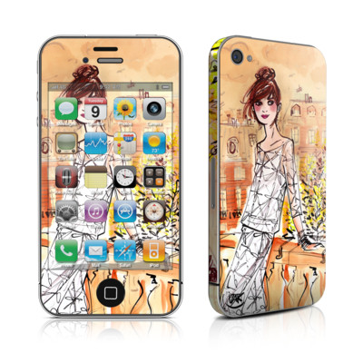 iPhone 4 Skin - Mimosa Girl