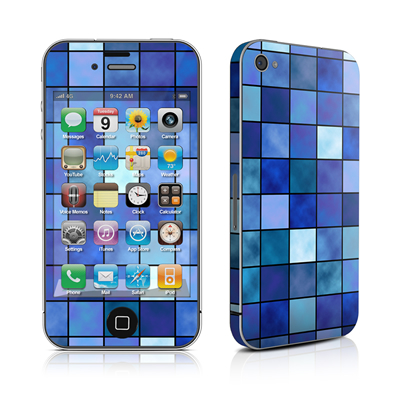iPhone 4 Skin - Blue Mosaic