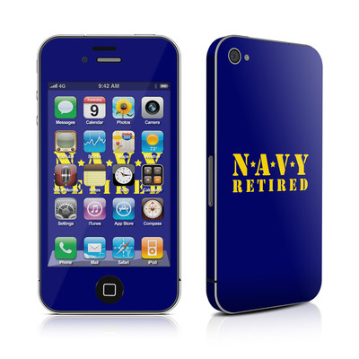 iPhone 4 Skin - Navy Retired