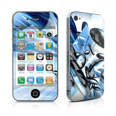 iPhone 4 Skin - Cobalt Nexus