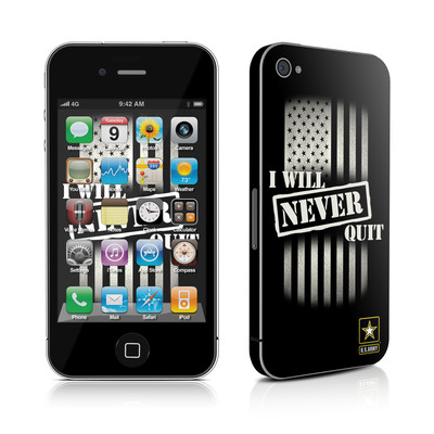 iPhone 4 Skin - Never Quit