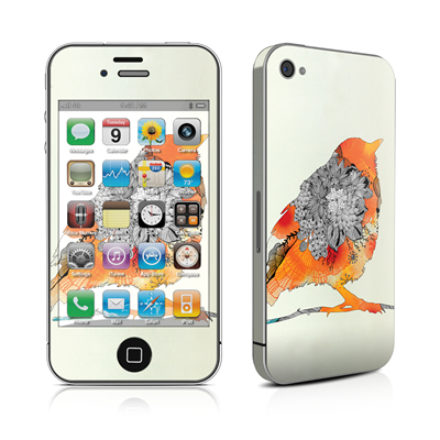 iPhone 4 Skin - Orange Bird