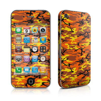 iPhone 4 Skin - Orange Camo