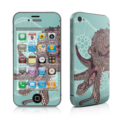 iPhone 4 Skin - Octopus Bloom