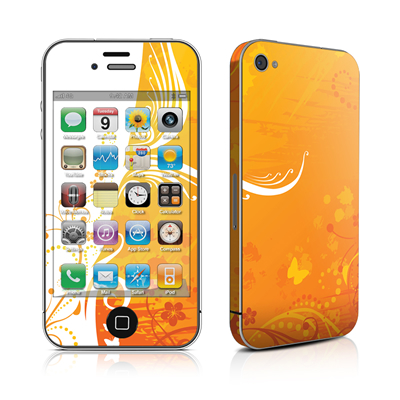 iPhone 4 Skin - Orange Crush