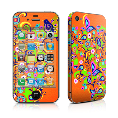 iPhone 4 Skin - Orange Squirt