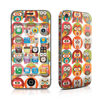 iPhone 4 Skin - Owls Family