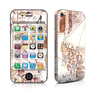 iPhone 4 Skin - Paris Makes Me Happy