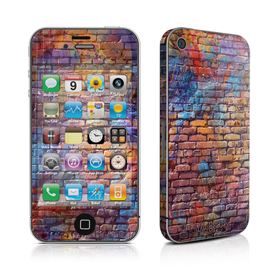 iPhone 4 Skin - Painted Brick