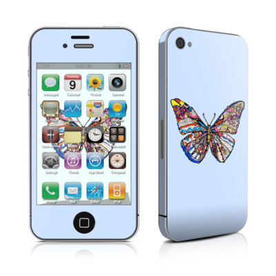 iPhone 4 Skin - Pieced Butterfly