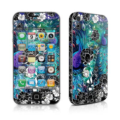iPhone 4 Skin - Peacock Garden