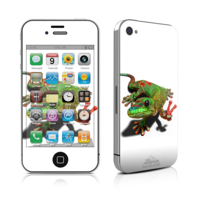 iPhone 4 Skin - Peace Gecko