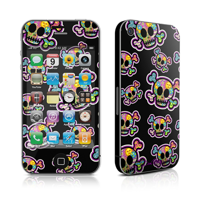 iPhone 4 Skin - Peace Skulls