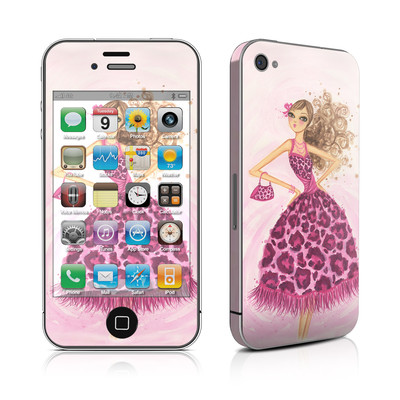 iPhone 4 Skin - Perfectly Pink