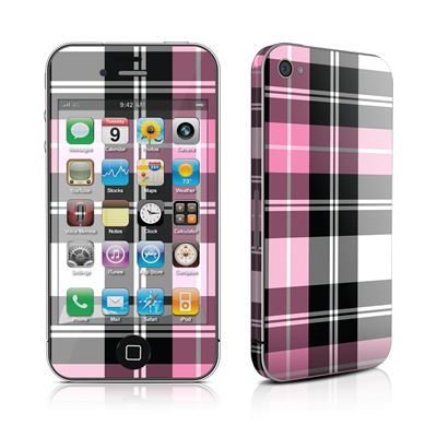 iPhone 4 Skin - Pink Plaid