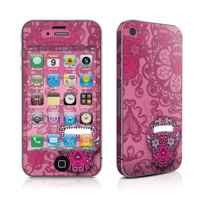 iPhone 4 Skin - Pink Lace