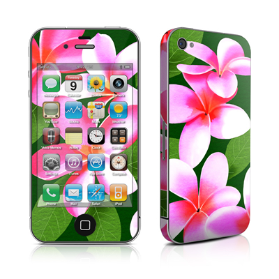 iPhone 4 Skin - Pink Plumerias