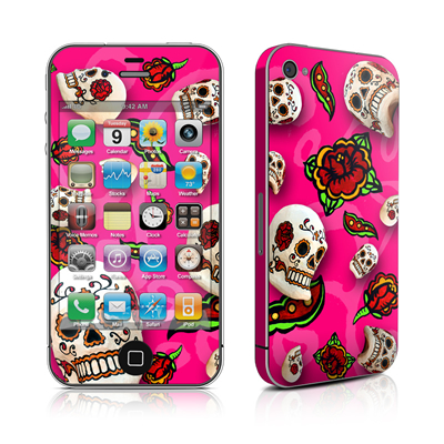 iPhone 4 Skin - Pink Scatter