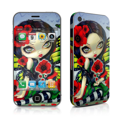iPhone 4 Skin - Poppy Magic