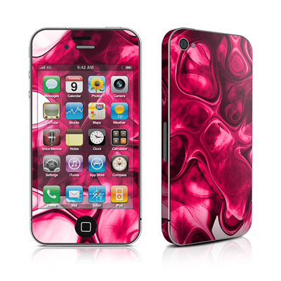 iPhone 4 Skin - Pink Splatter