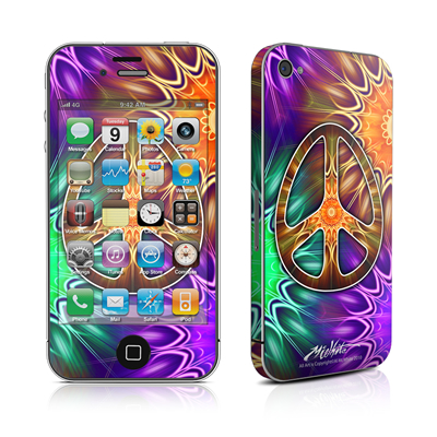iPhone 4 Skin - Peace Triptik