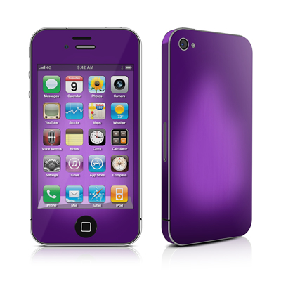 iPhone 4 Skin - Purple Burst