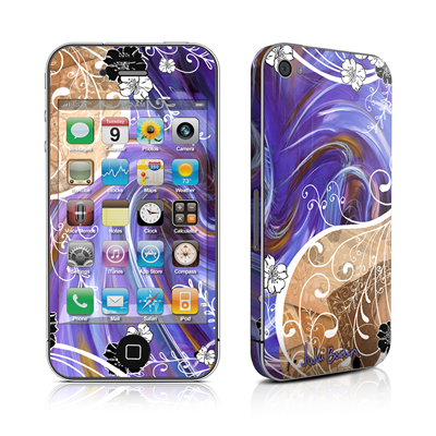 iPhone 4 Skin - Purple Waves