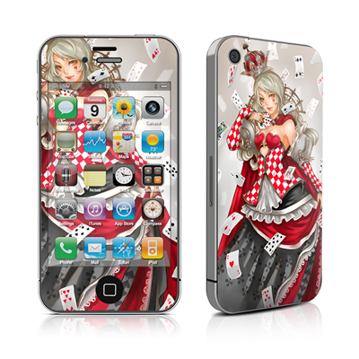iPhone 4 Skin - Queen Of Cards