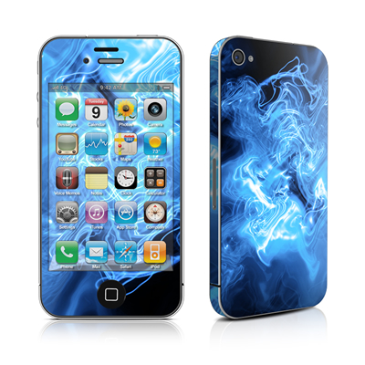 iPhone 4 Skin - Blue Quantum Waves