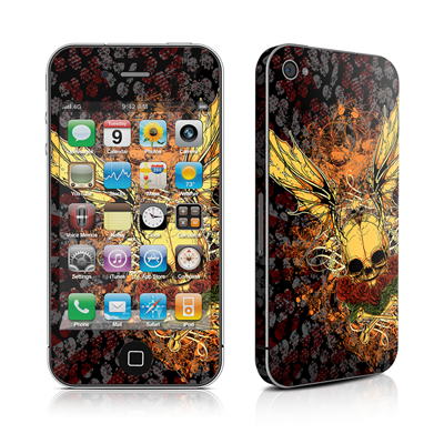iPhone 4 Skin - Radiant Skull