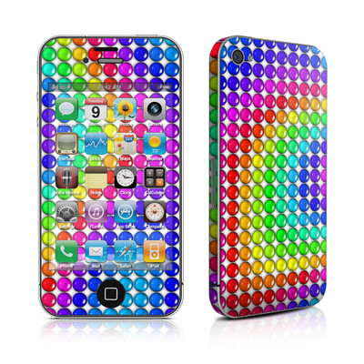 iPhone 4 Skin - Rainbow Candy