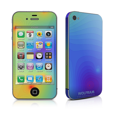iPhone 4 Skin - Rainbow Contours
