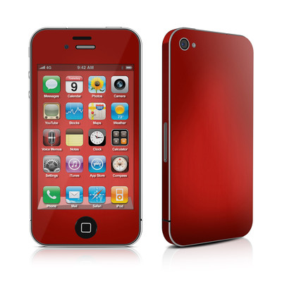 iPhone 4 Skin - Red Burst